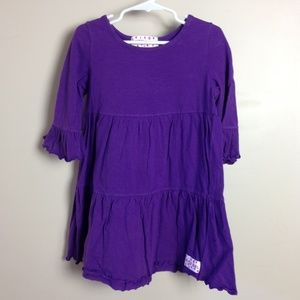 Ruffle Girl Purple Tunic Cotton Long Sleeve Top 7